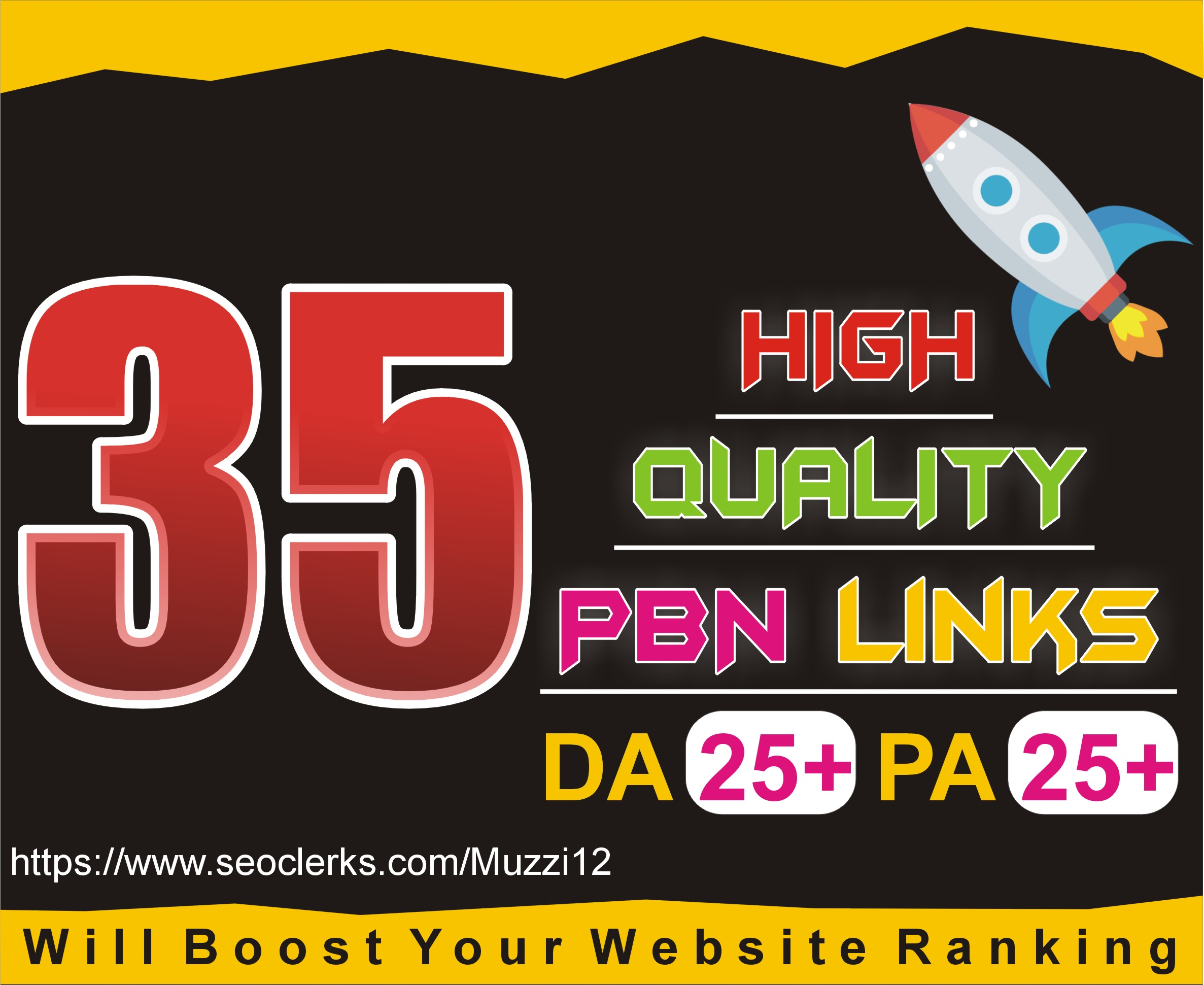 create 35 PBN on High Da PA Links