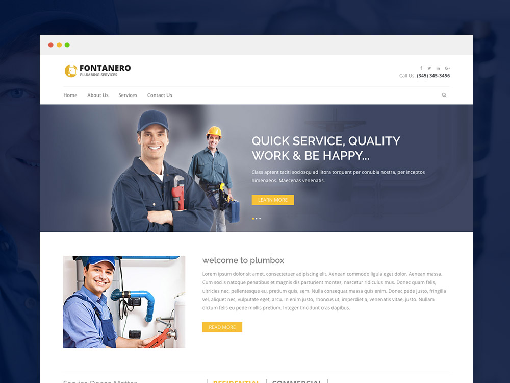 5 Pages Responsive Website Designing With Contact Us Page