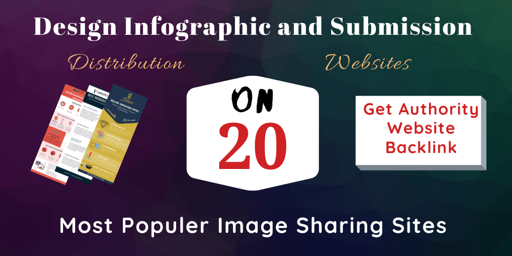 Design infographic and manually submit on High DA/PA image submission sites
