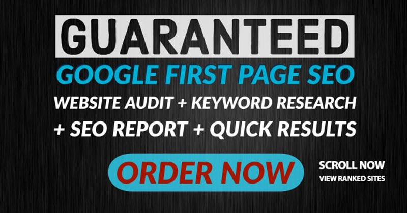 GOOGLE TOP 3 GUARANTEED Google first page off page seo