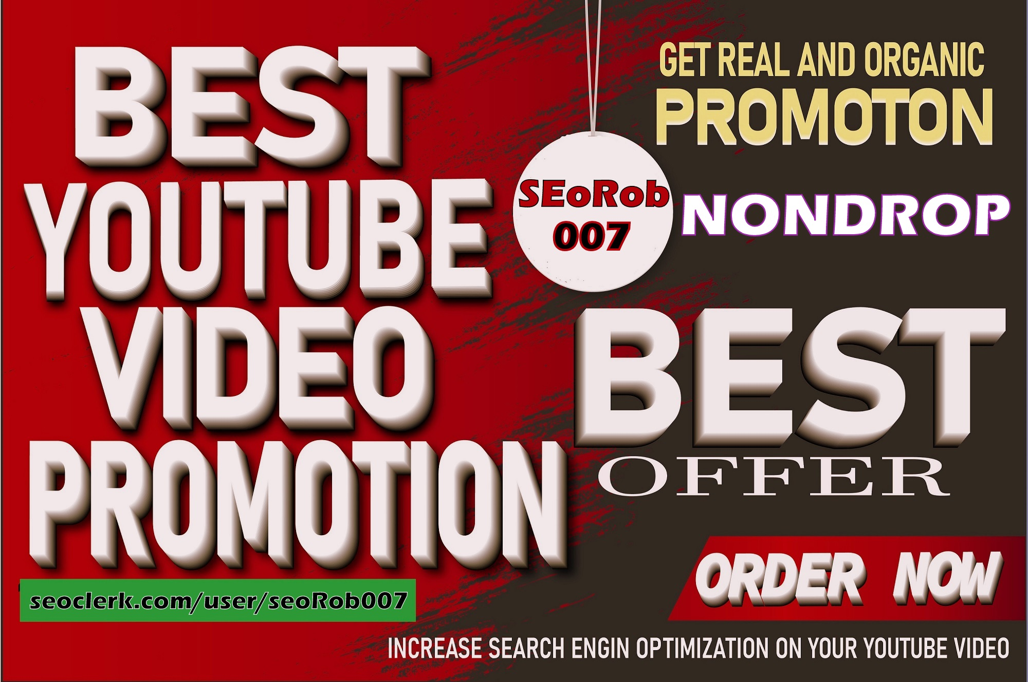 blow up your YOUTUBE video,  NON DROP fast Guaranteed