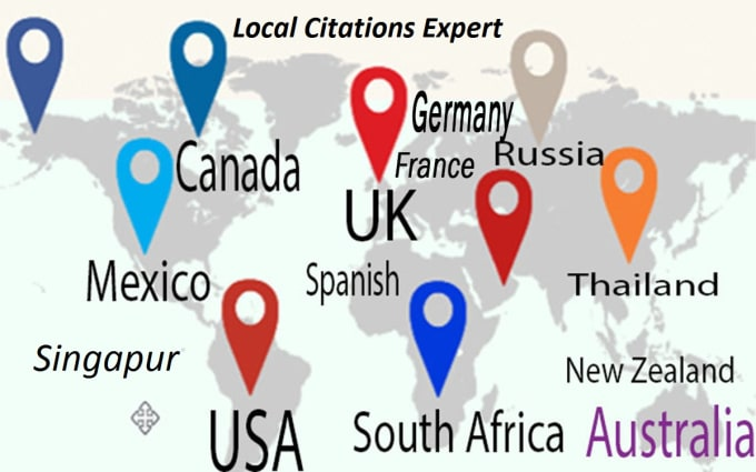 I will do 30 USA,UK,CA, AUS Citation for local SEO, Local Listing Google Ranking Links
