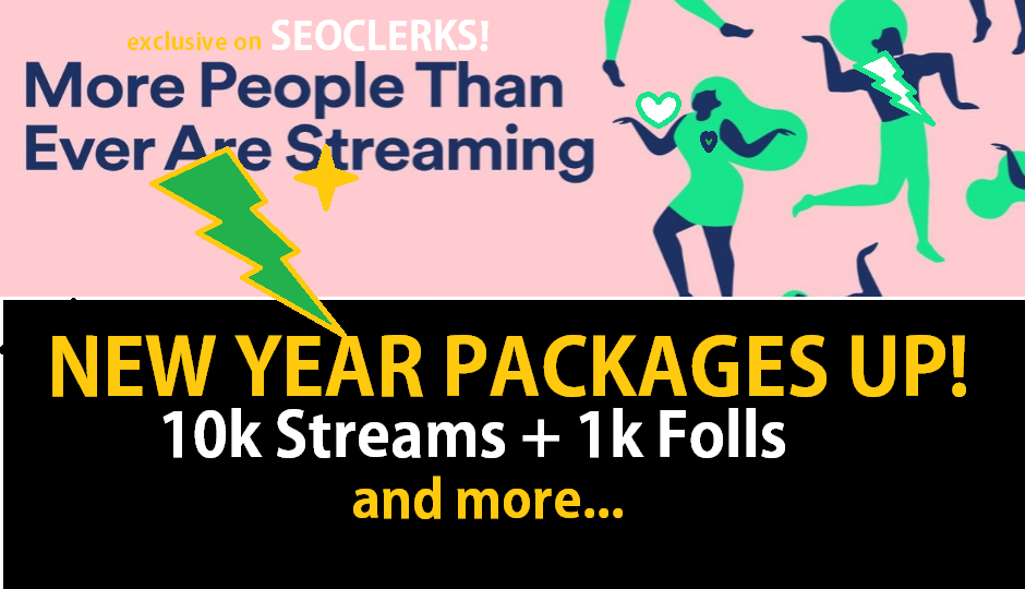 10kStreams & 1k Folls New Year STREAMSPLUS PACKAGE