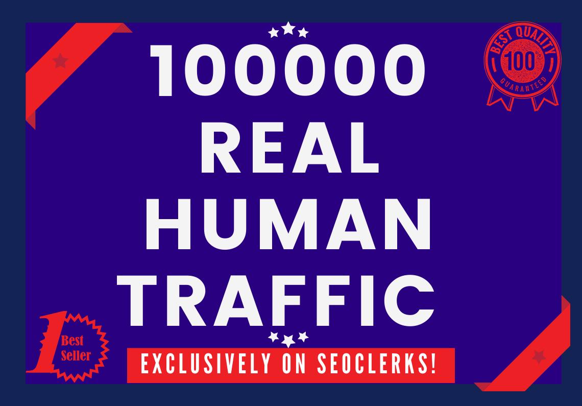 Send 100000+ Real Human Traffic by Google Bing yahoo etc
