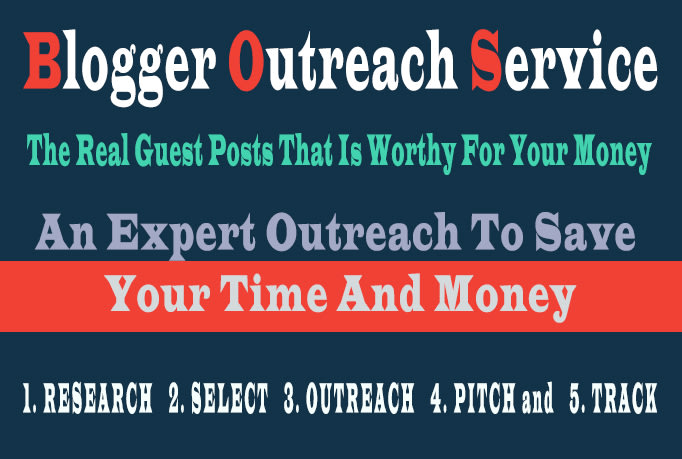 Blogger Outreach Service to DA 40+ Blog for Real Guest Posts