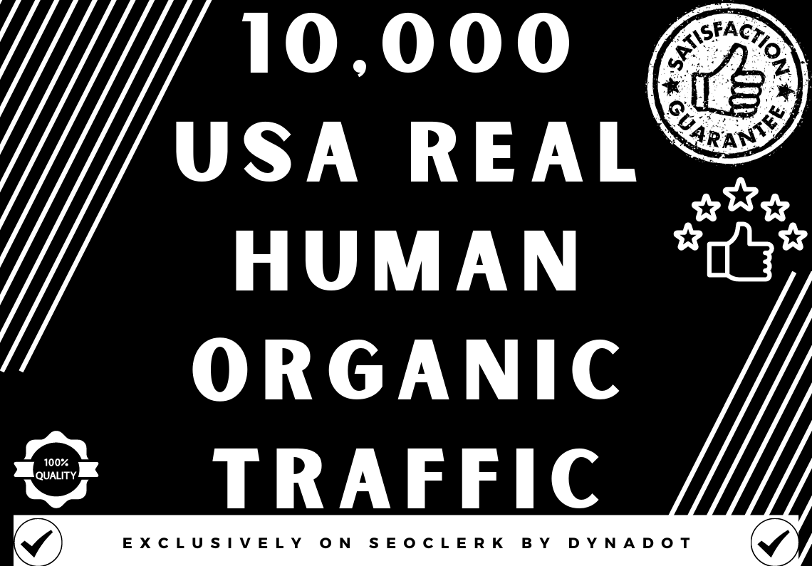 10,000+ Real Human Organic traffic from USA