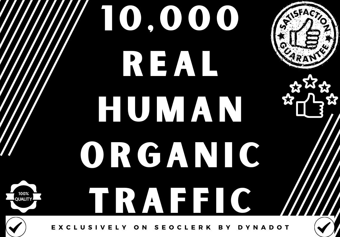 10,000+ Real human Organic traffic from Worldwide