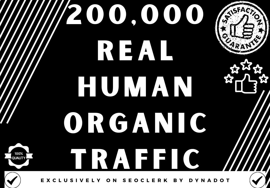 200,000+ Real human Organic traffic from Worldwide