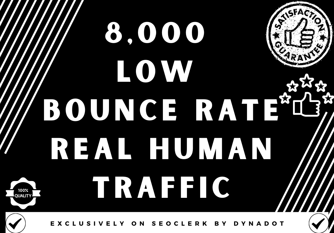 8,000+ Low Bounce Rate Real Human Traffic from Worldwide