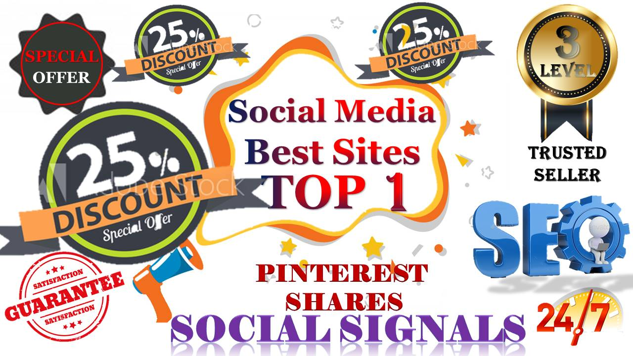 Gig Offer 5,000 pinterest USA, UK, UAE, share Real SEO Social Signals with split also available