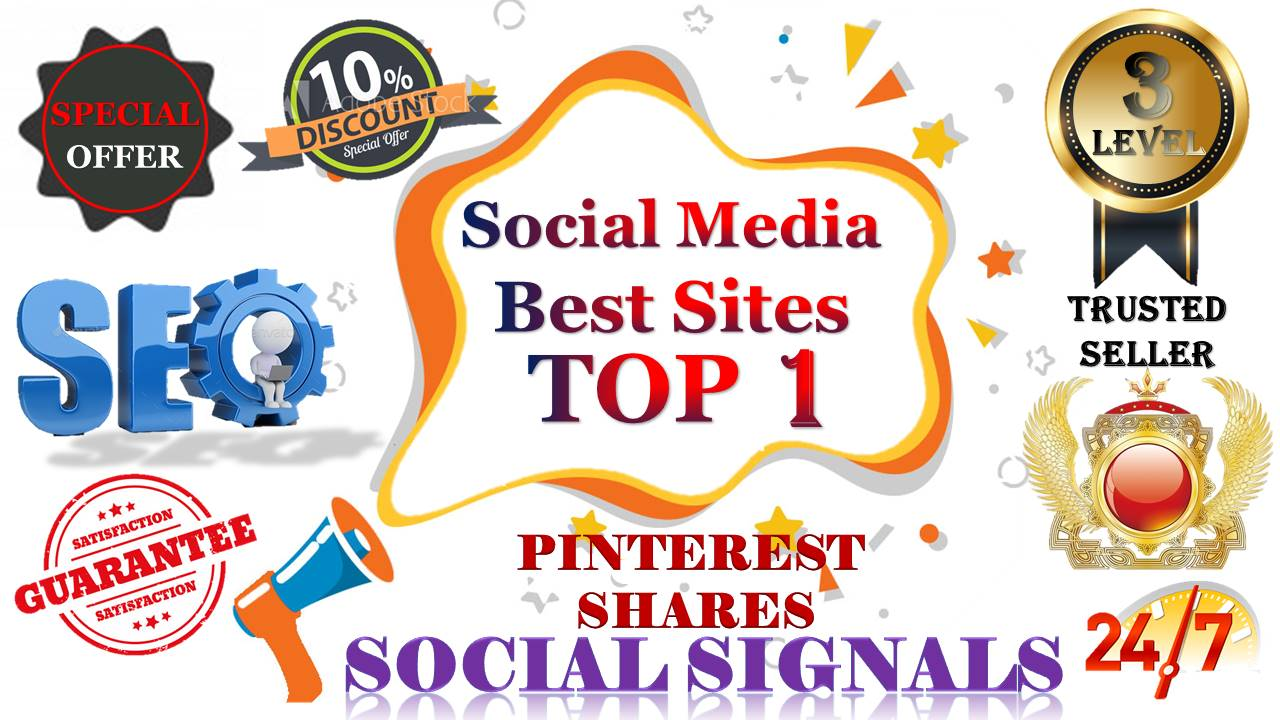 Gig Offer 15,000 pinterest USA, UK, UAE, share Real SEO Social Signals with split also available