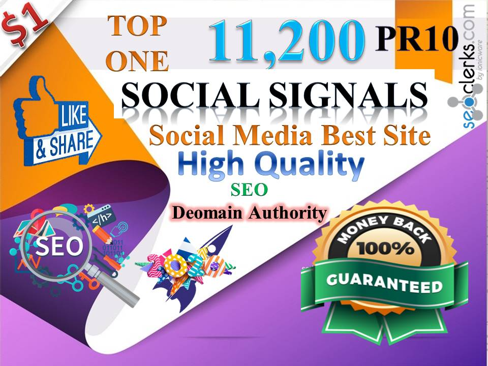 TOP No1 Social Media Best Site 11,200+ PR10 DA95 PA100 share Real SEO Social Signals