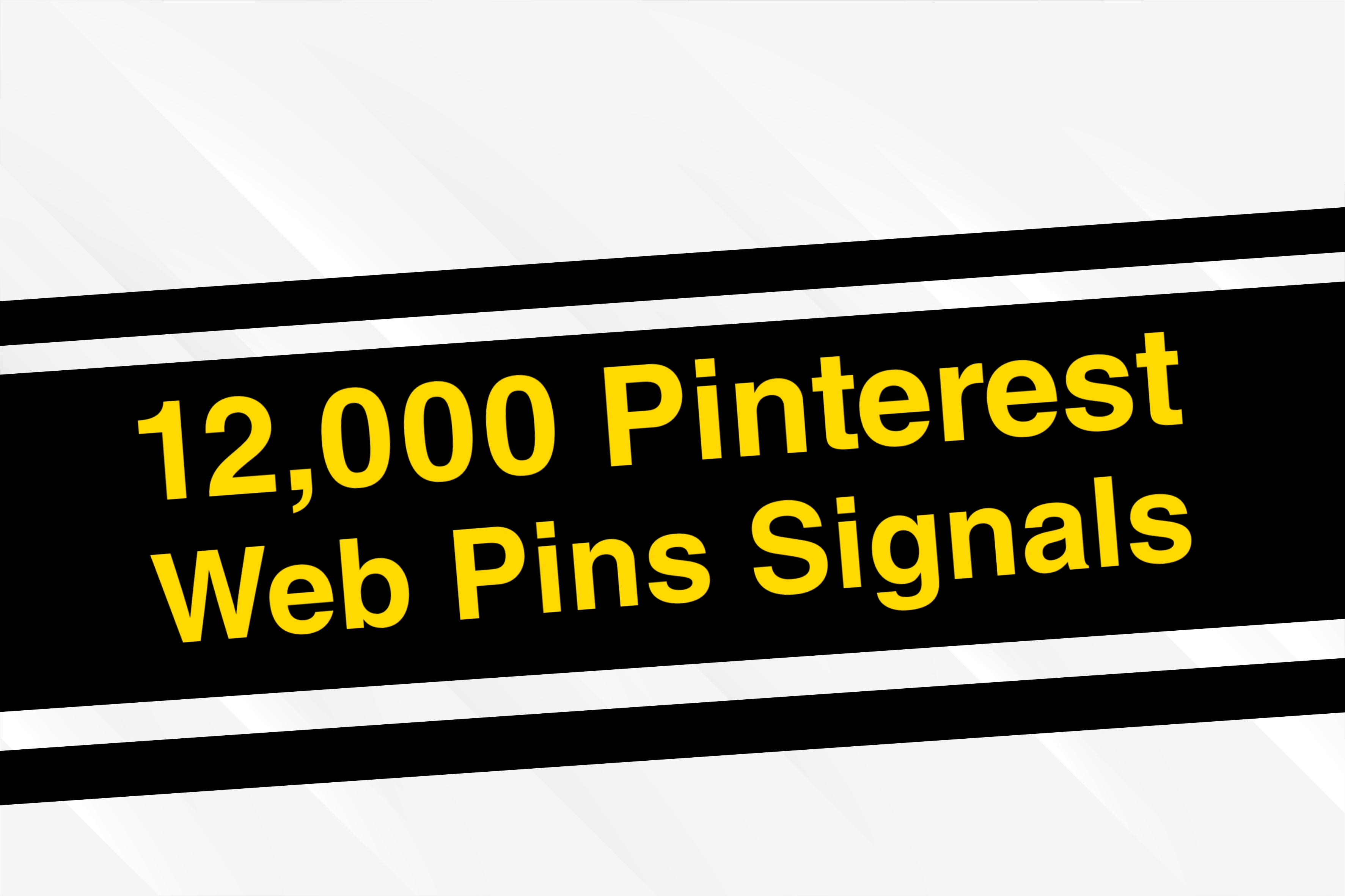 12,000 Pinterest Web Pins Social Signals, Helps you bump your web on Any Search Engine