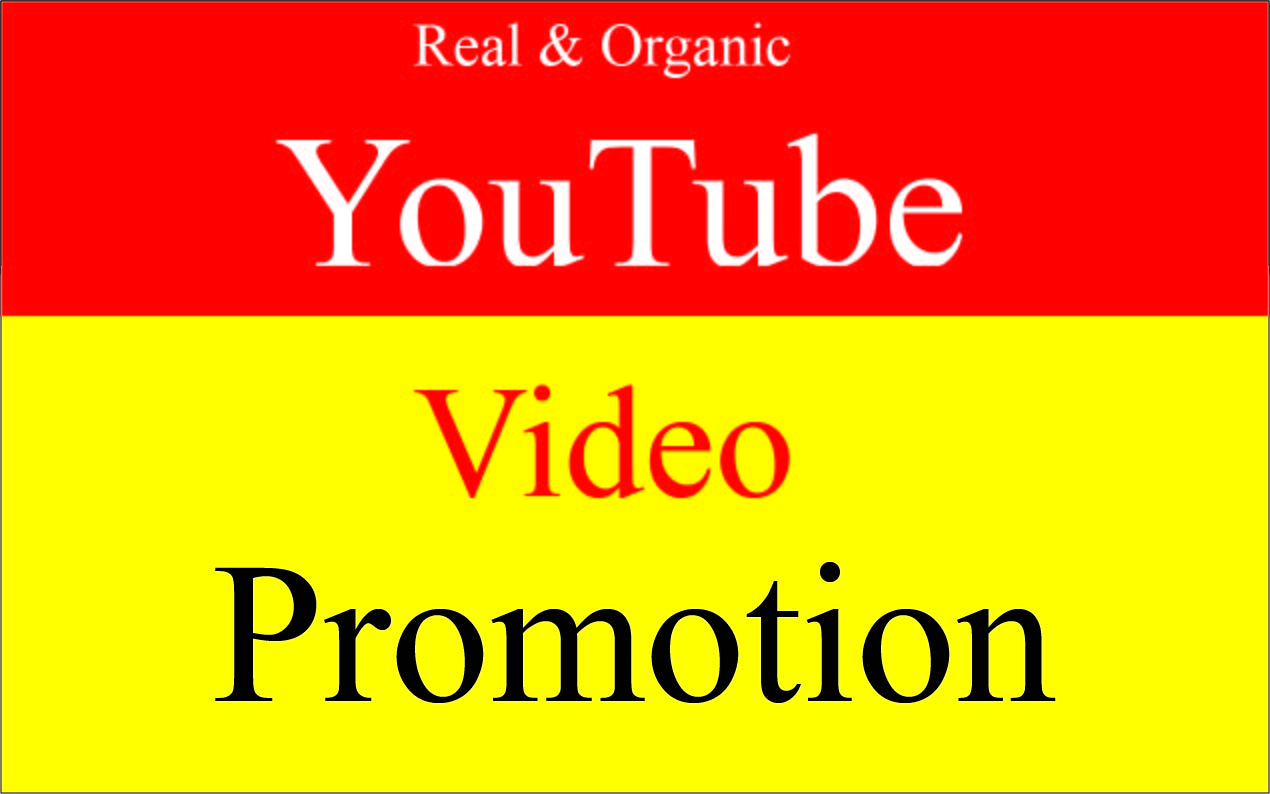 Get Fast Natural YouTube video promotion