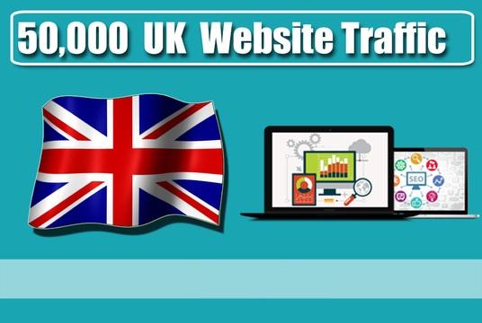 Provide 50,000 Organic Traffic from UK
