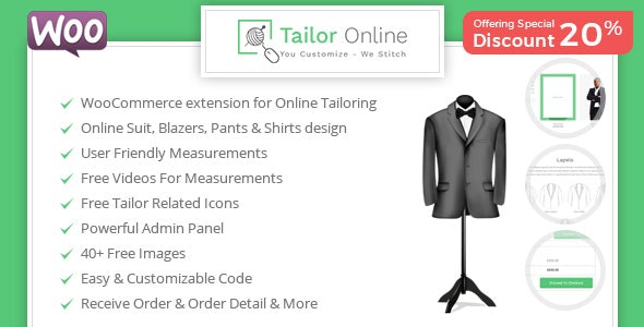 Tailor Online - WooCommerce Plugin for Online Custom Tailoring