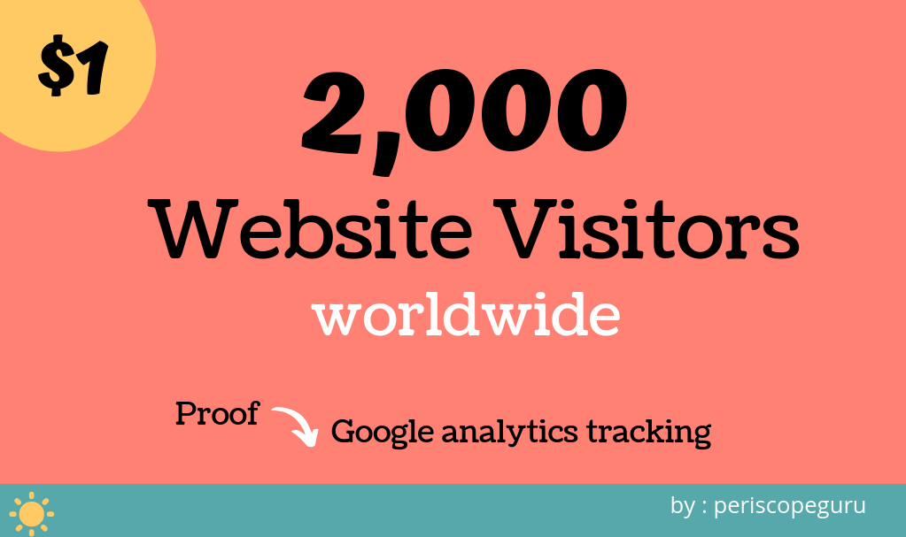 Worldwide Real Website Visitors, Unique Web Traffic