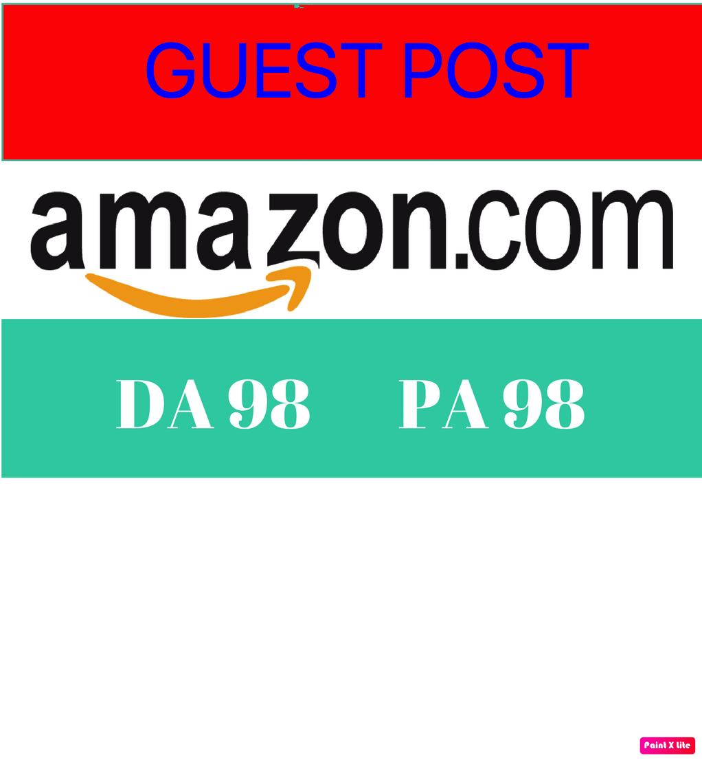 Guest post with Backlink on Amazon Amazon.co.uk DA 94