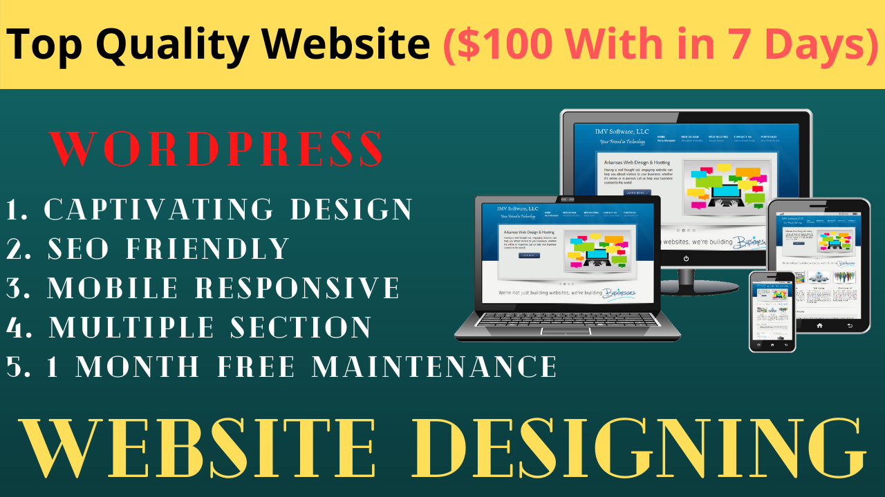 You will get a business WordPress website.