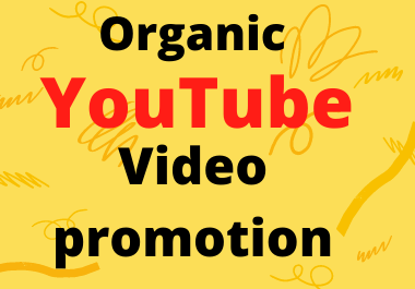 I will do professional YouTube video promotion