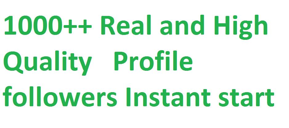 Get 1,000+ Social media followers via real user 25 refill guarantee if Drop