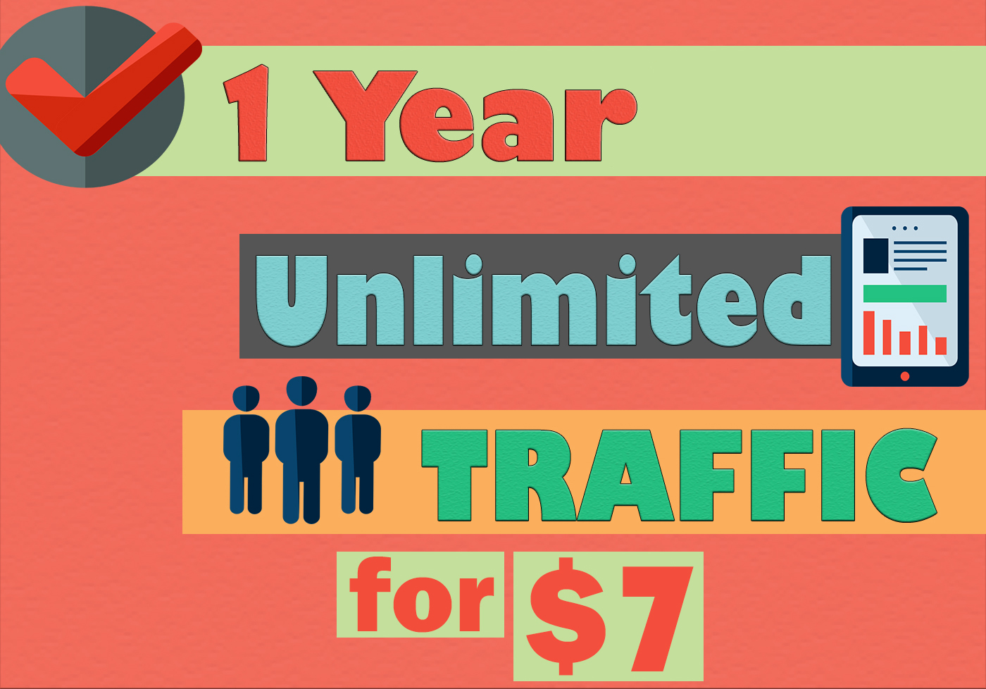 1 YEAR UNLIMITED KEYWORD TARGETED TRAFFIC