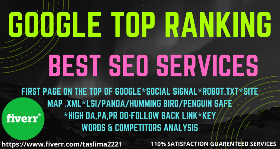 I will do on page seo backlinks link building to google top ranking.