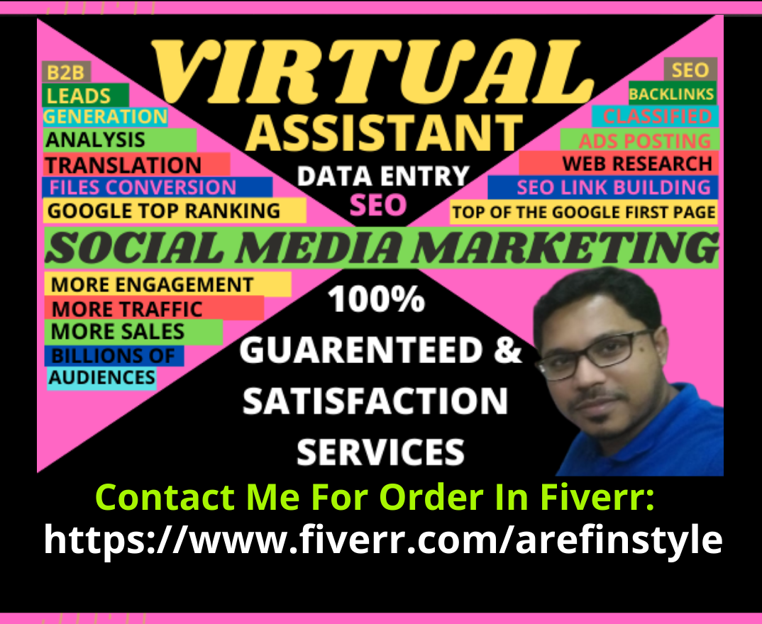 I will be your reliable virtual assistant to social media marketing