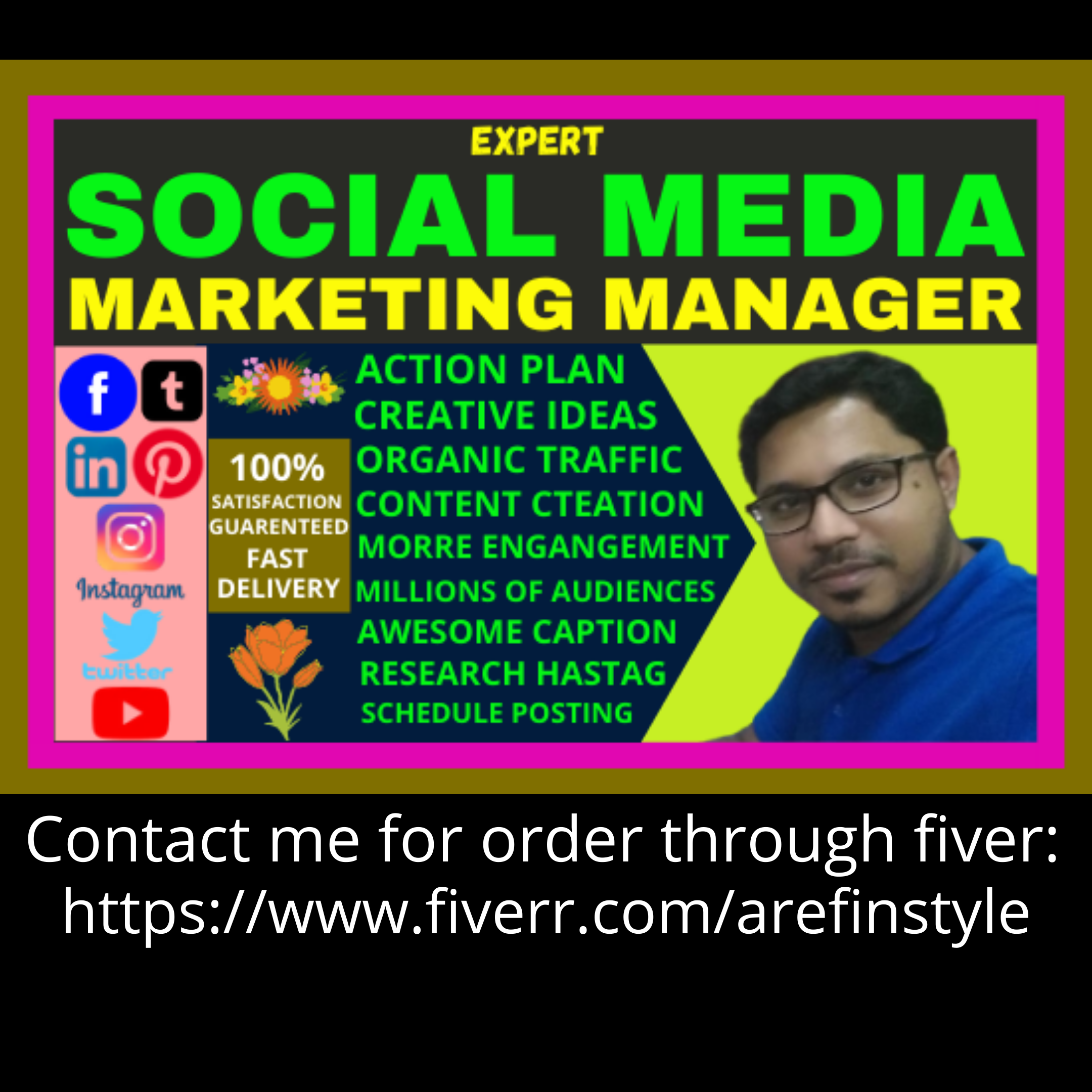 I will be your virtual social media marketing manager to promoting