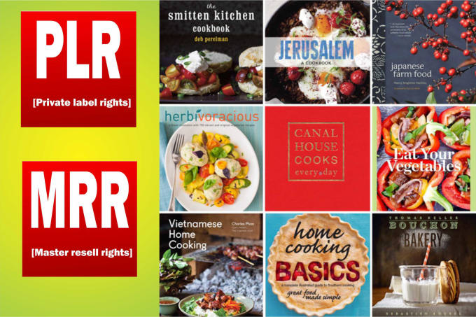 100 food and recipe niche ebooks,  images mrr, plr