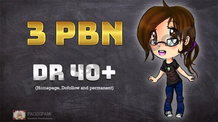We create 3 Permanent Dofollow homepage PBN Backlinks DR 40+