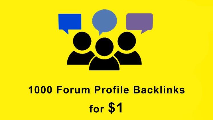 Build 1000 forum profiles SEO backlinks link building service