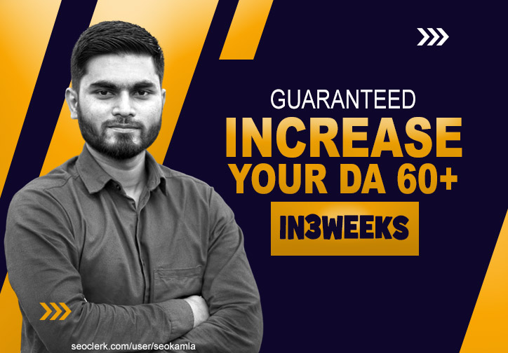 Guaranteed in 2021 Increase Your Domain Authority Moz DA to 60+ within 3 Weeks