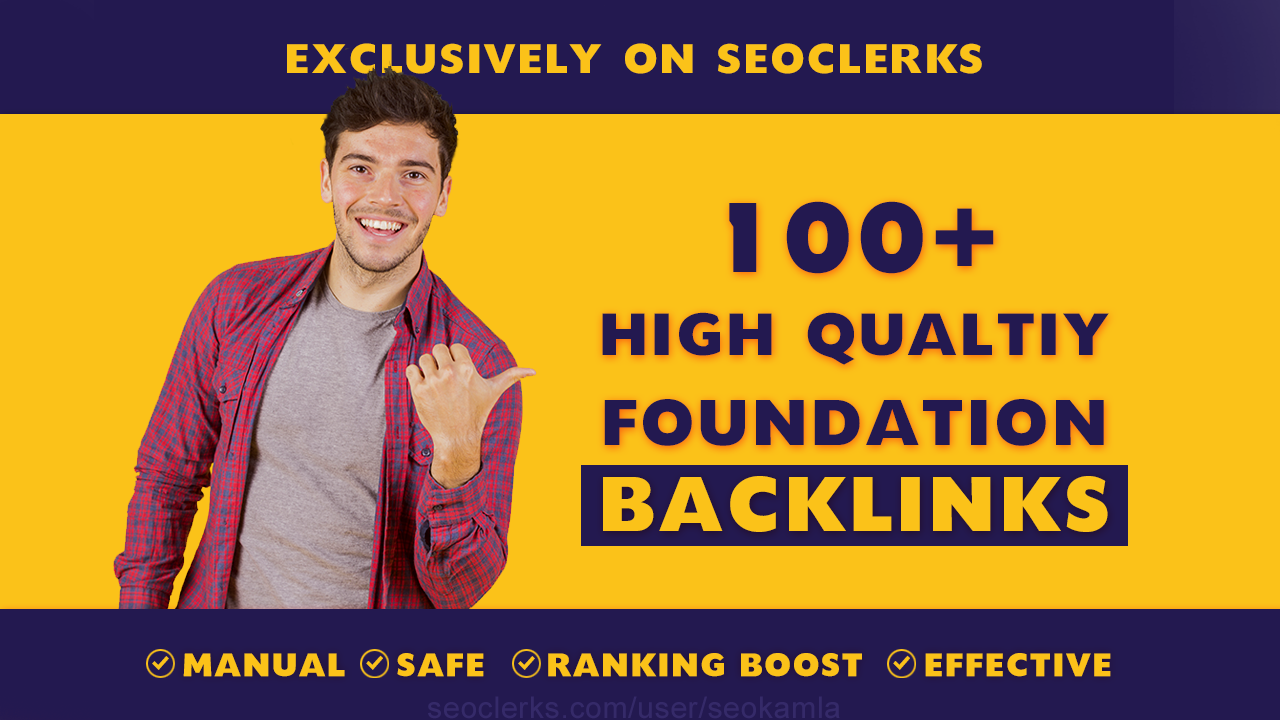 I will build SEO backlinks white hat manual link building service