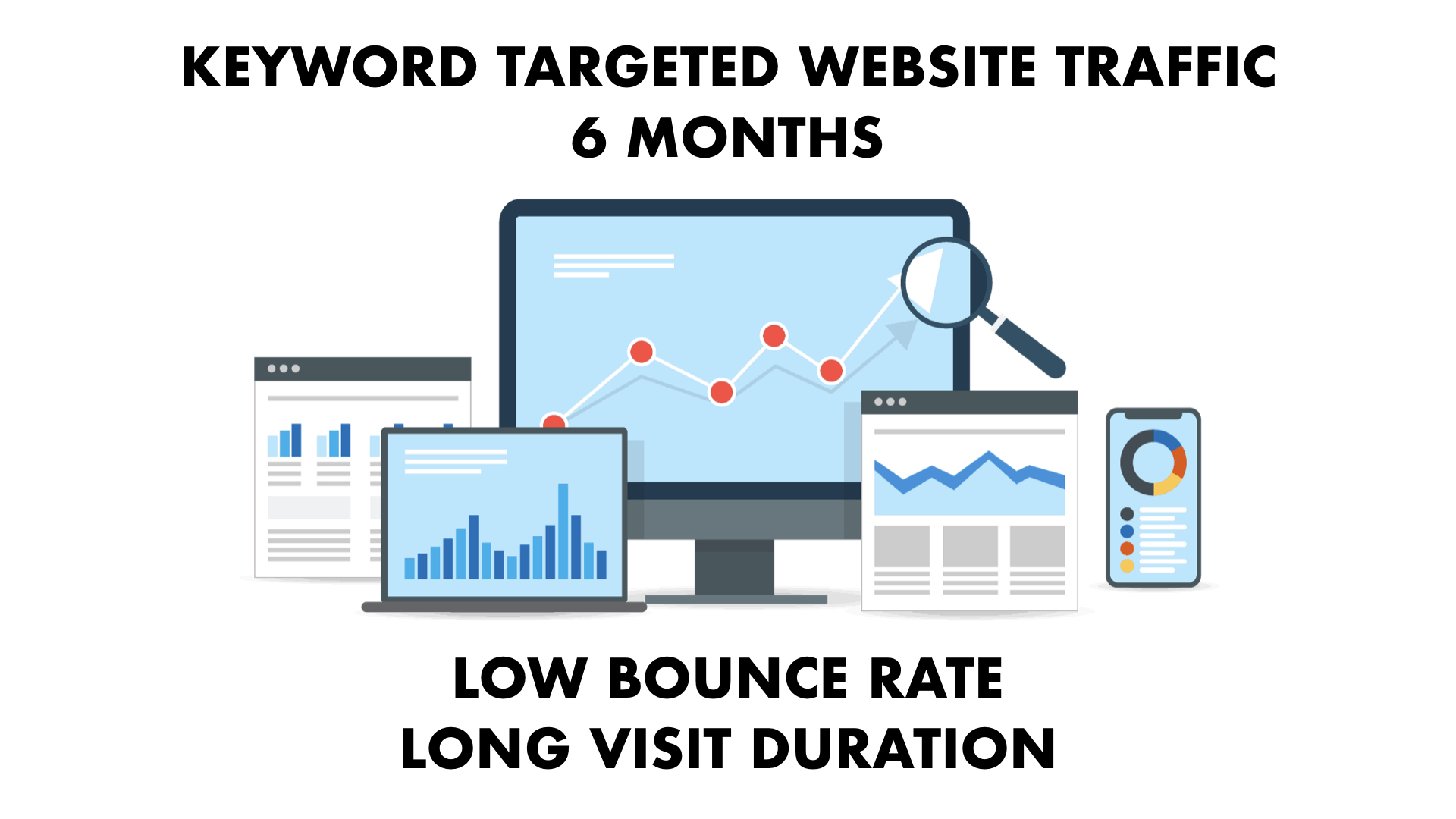 KEYWORD TARGETED Website Traffic with Low Bounce Rate and Long Visit Duration for 6 months