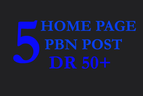 I will create 5 high DR 50 plus dofollow pbn backlink