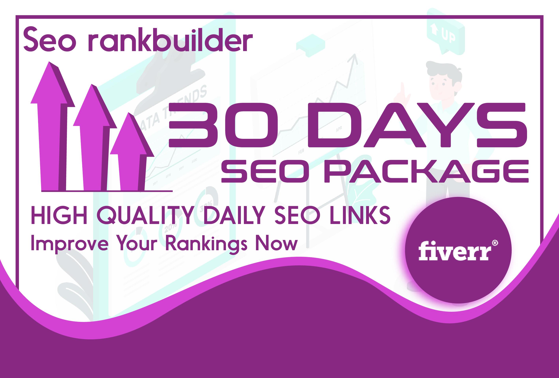 I will do 30 days SEO service,  daily,  fresh backlinks
