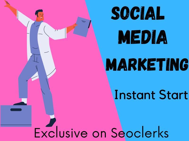 I will do social media marketing Instant Start