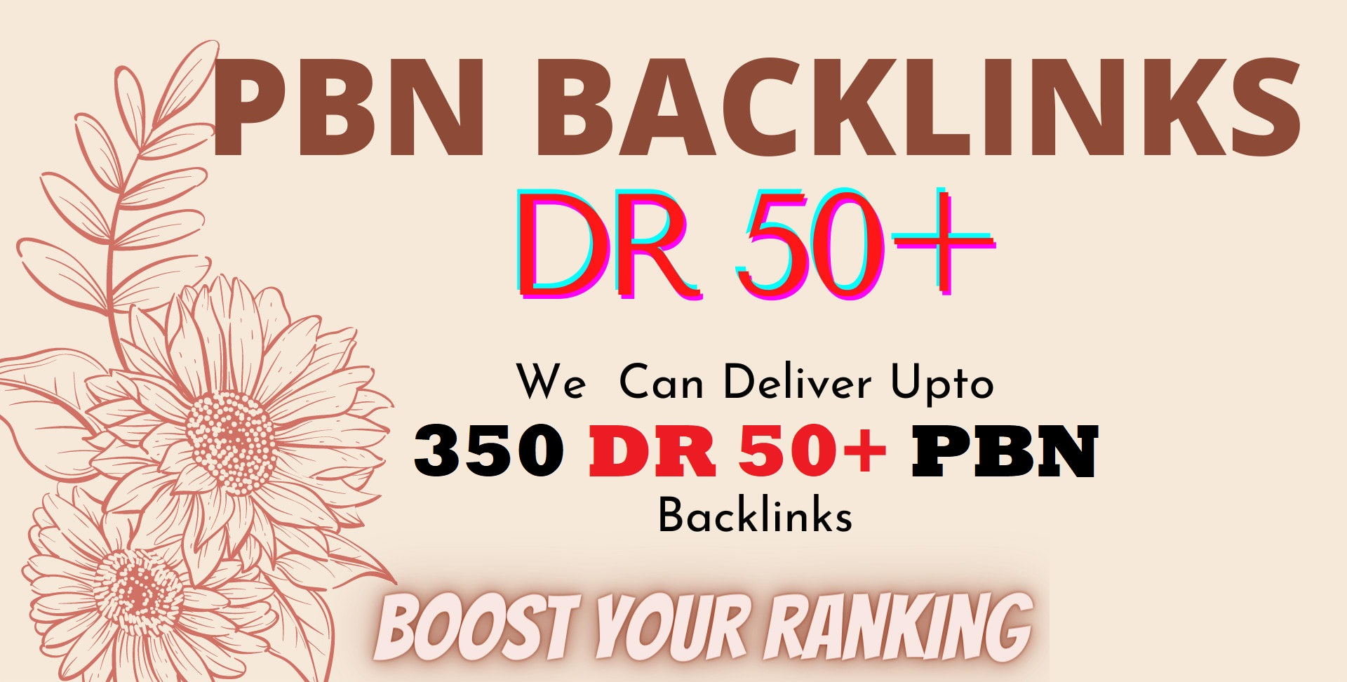 Provide 350 Permanent DR 50+ Homepage High Quality Dofollow Backlink