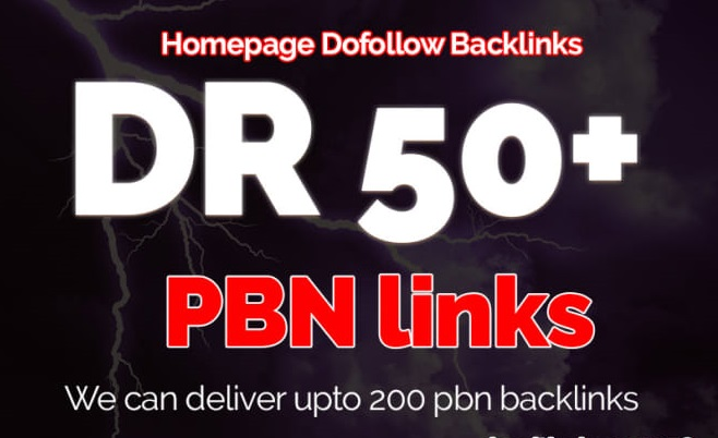 250 Permanent DR 50+ Homepage PBN Dofollow Backlink