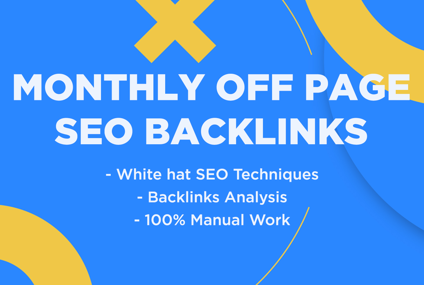 Boost Your Rank Monthly Off Page SEO Backlinks service