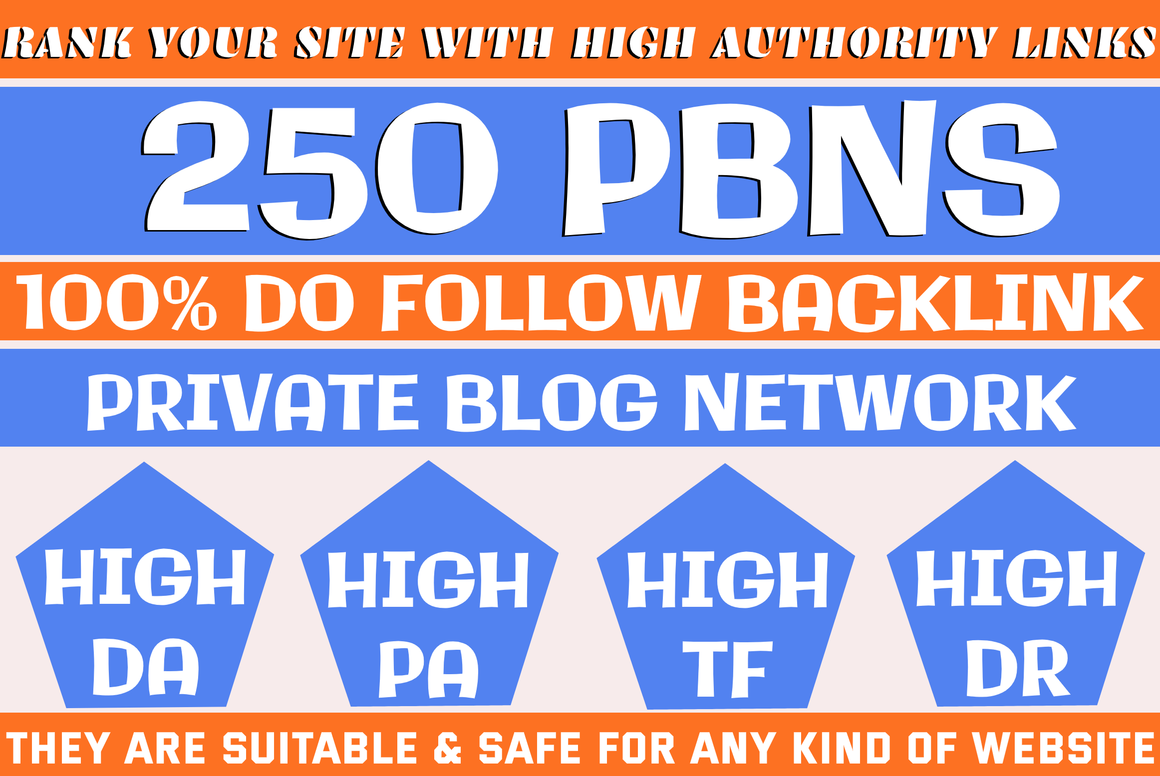Build 250 HomePage PBN All Unique Domains Backlinks All Dofollow High Quality Backlinks