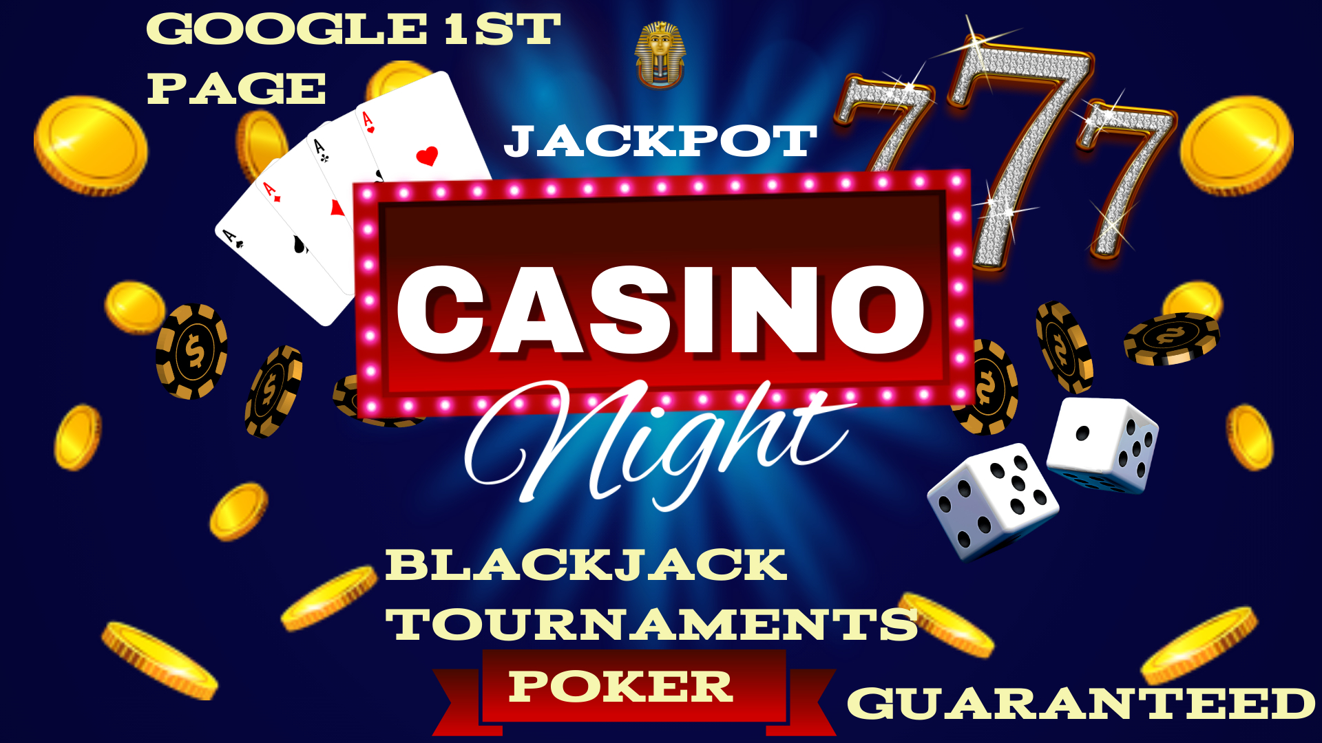 Guaranteed Rank for your Gambling Casino Website To Top on First Page on Google