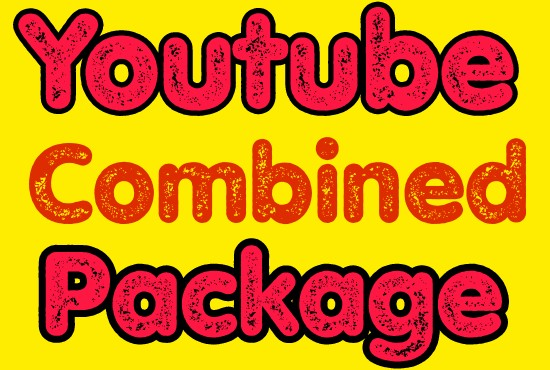 I will do best YouTube combined package promotion