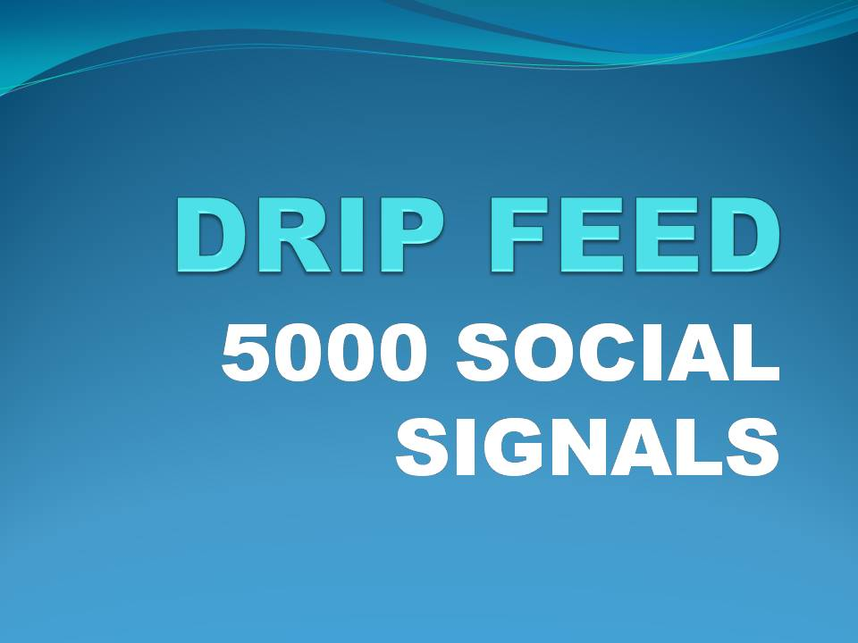 i will do 5000 organic pr social signals in 7 days drip feed from best social media sites