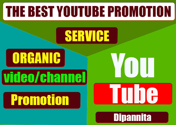 The Best Promotion Of Your Youtube video & Marketing Via Social Media Network