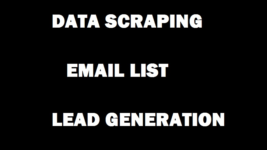 I will make targeted email list of any business or multiple businesses from single area