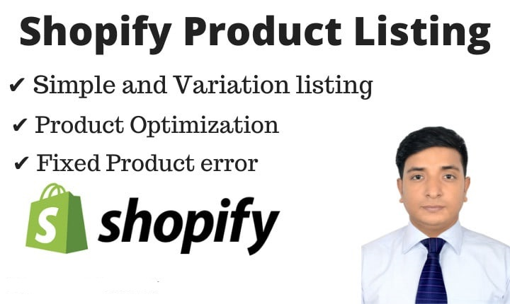 I Will Shopify Products Listing With Variants