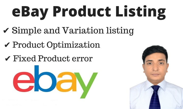 I will do eBay product listing