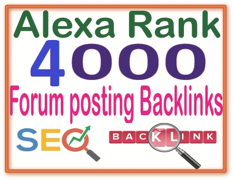 4000+ Forum posting Of High Quality backlinks for your URL and keywords